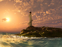 Phare illustration stock