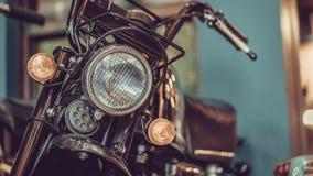 Phare antique Front Lamp de moto photo libre de droits