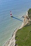 Phare au cap Bévésiers, le Sussex est, anglais Image libre de droits