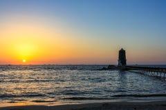 Phare au coucher du soleil photos libres de droits