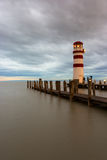 Phare au lac Neusiedl Images libres de droits