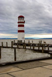 Phare au lac Neusiedl Photos stock