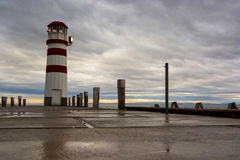 Phare au lac Neusiedl Photographie stock