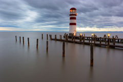 Phare au lac Neusiedl Photographie stock libre de droits