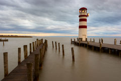 Phare au lac Neusiedl Images stock