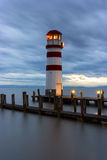 Phare au lac Neusiedl Photo stock