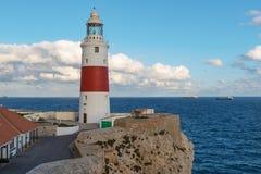 Phare au point d'Europa dans GibraltarLighthouse au point d'Europa au Gibraltar Photo stock