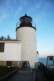 Phare bas de tête de port dans l'Acadia Photos libres de droits