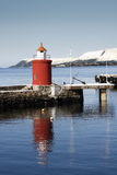 Phare chez Alesund, Norvège Photographie stock