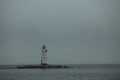 Phare chez Egersheld dans Vladivostok Image stock