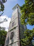 Phare chez Pointe Vénus à Papeete, Polynésie française image libre de droits