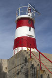 Phare chez Sagres, Algarve, Portugal Images stock