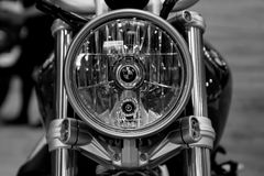 Phare détaillé de moto classique de BMW Images libres de droits