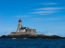 Phare d'île photo stock