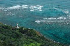 Phare d'île d'Oahu photographie stock libre de droits
