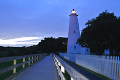 Phare d'île d'Ocracoke, OR Photo stock