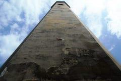 Phare d'île de tête chauve, la Caroline du Nord, Etats-Unis, orientation de paysage Photo libre de droits