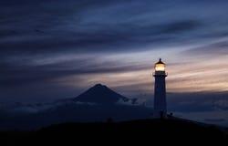 Phare d'Egmont de cap, Nouvelle-Zélande photos libres de droits