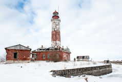 Phare d'hiver Images stock