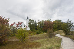 Phare d'Iroquois de point Image stock