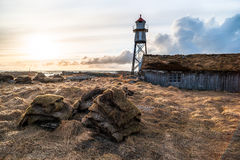 Phare dans Andoy Images stock