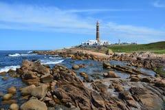 Phare dans Cabo Polonio en Uruguay images libres de droits