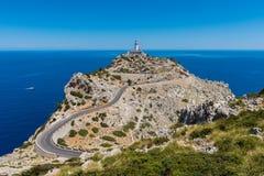Phare dans Cap de Formentor Majorque image libre de droits