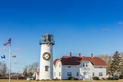 Phare dans Cape Cod, le Massachusetts image libre de droits