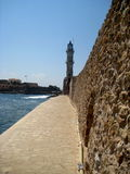 Phare dans Chania, Crète Photos stock