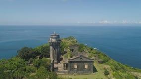 Phare dans l'engano de cap Philippines, île de Palaos Images stock