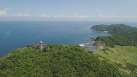 Phare dans l'engano de cap Philippines, île de Palaos Photo libre de droits