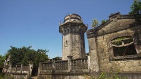 Phare dans l'engano de cap Philippines, île de Palaos Image stock