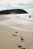 Phare dans la plage Photo libre de droits