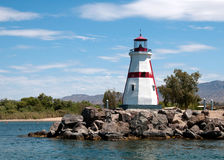 Phare dans la ville de Lake Havasu, AZ Images stock