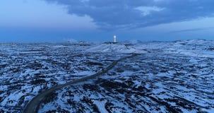 Phare dans la vue aérienne photographie stock libre de droits