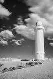 Phare dans le black&white, wollongong, Australie. Photo stock