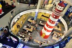 Phare dans le centre commercial du terminal 21 Image libre de droits