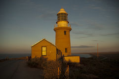 Phare dans le Golfe Australie d'Exmouth Image libre de droits