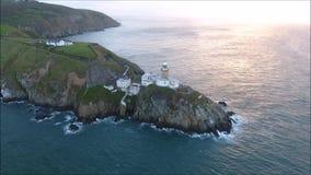 Phare de Baily Howth l'irlande banque de vidéos