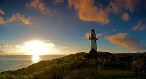 Phare de Basco dans Batanes photographie stock libre de droits
