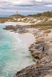 Phare de Bathurst sur l'île de Rottnest Images stock