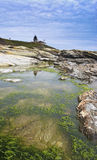 Phare de Beavertail photographie stock