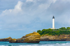 Phare de Biarritz Photo libre de droits