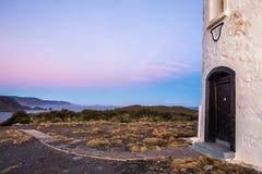 Phare de Bruny de cap et sa vue au-dessus de la côte sud tasmanienne Photo stock