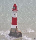 Phare de cap Bévésiers, le Sussex Angleterre Photo stock