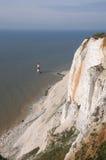 Phare de cap Bévésiers, le Sussex est image libre de droits