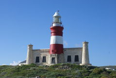 phare de cap d'agulhas Images stock