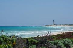Phare de Celarain chez Punta Sur Image stock