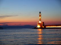 Phare de Chania images libres de droits
