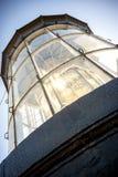 Phare de Chassiron Dessus du phare avec la lentille de signal ` Oleron de l'île D dans le Charente français avec le phare rayé fr images libres de droits